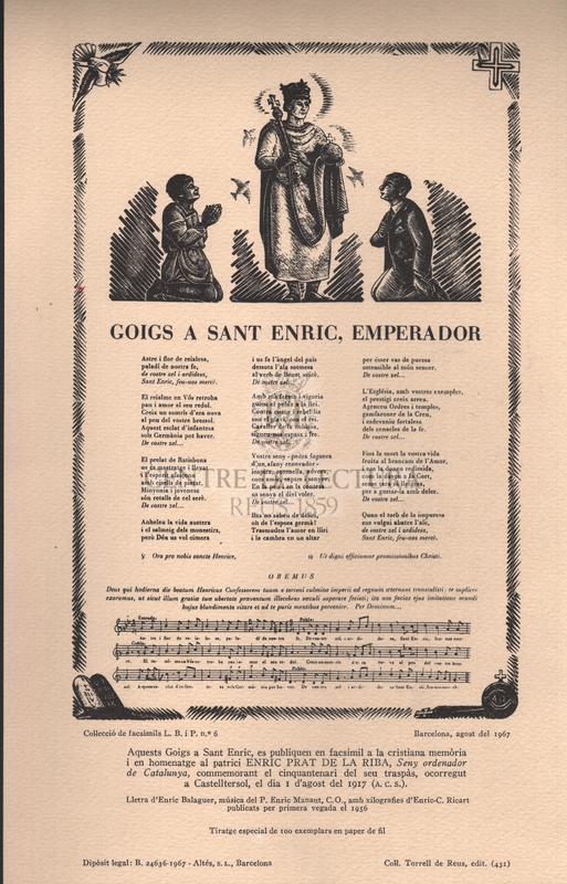 Goigs a Sant Enric, emperador