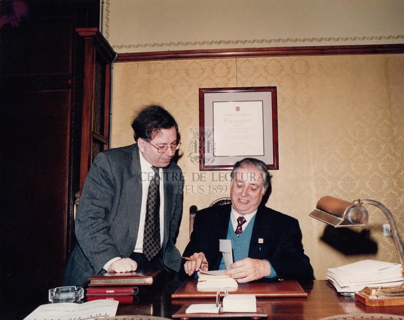 Visita de l'escriptor del mes de març del 1996, Lluís Alpera