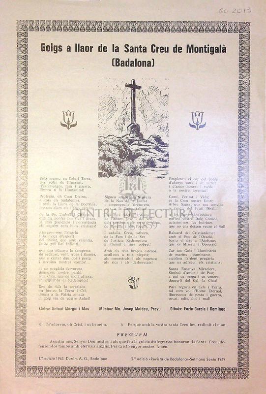 Goigs a llaor de la Santa Creu de Montigalà (Badalona)