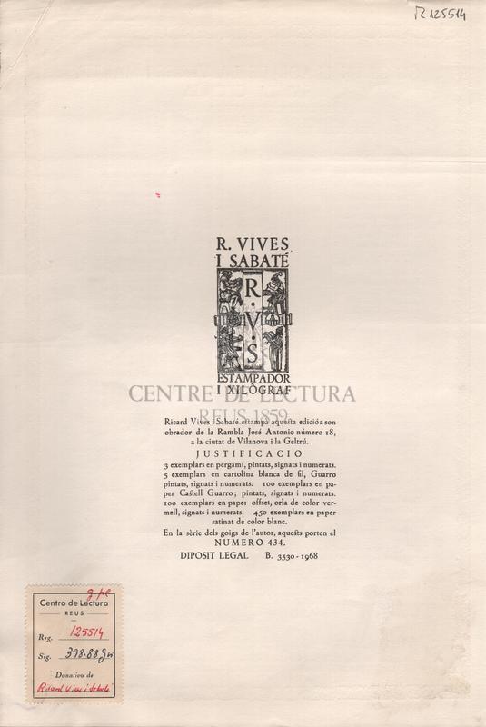 Goigs en llaor de la Verge i Martir Santa Cecilia que es canten cada any a la parroquia de la Santissima Trinitat de Vilafranca del Penedes.