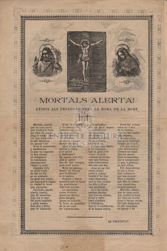 Las obras de Misericordia. Mortals alerta! avisos als pecadors pera la hora de la mort