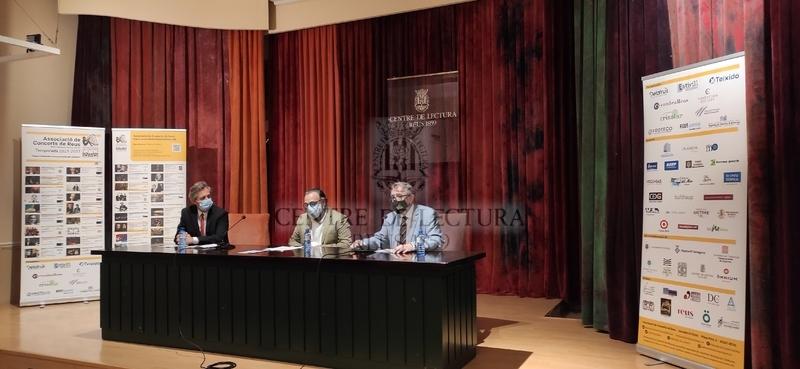 Presentació de la programació de l'Associació de Concerts de Reus per la temporada 2021/2022