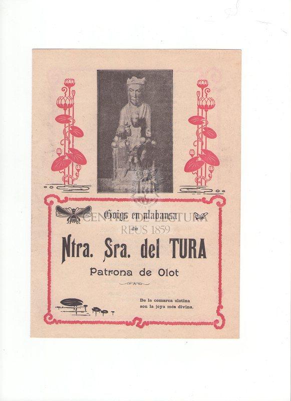 Goigs en alabanza de Ntra. Sra. del Tura Patrona de Olot