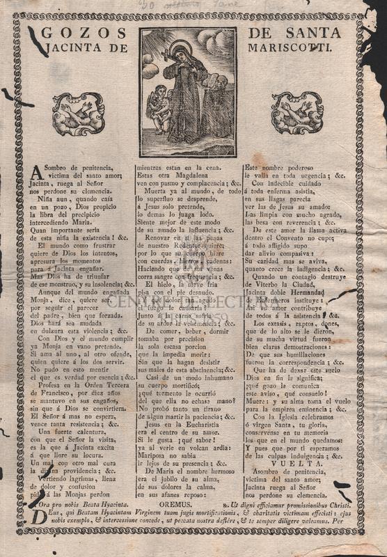 Gozos de santa Jacinta de Mariscotti