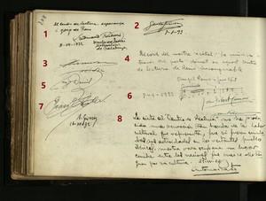 Llibres de signatures del Centre de Lectura